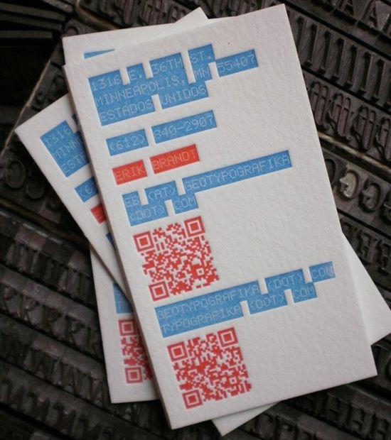 Névjegyek   QR kóddal | print nyomtatott anyagok kreativ friss friss  | qr code névjegy inspiráció Hasznos