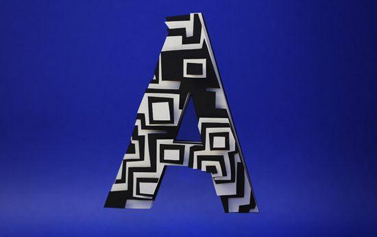 Jerome Corgier térbeli ábécéje | tipografia kreativ friss friss  | tipó font