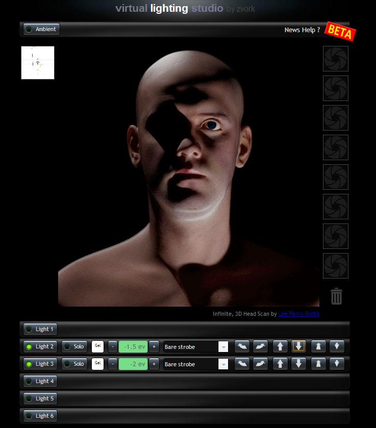 Studio Lighting Software: Online Segítség Portréfotózáshoz: Virtual Lighting Studio